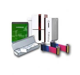 Evolis Primacy Bundle, eenzijdig, 12 dots/mm (300 dpi), USB, Ethernet, rood